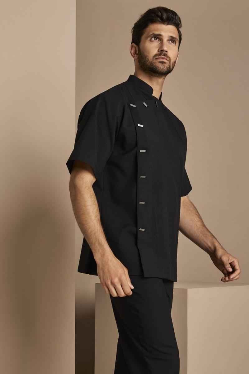 Select Men's Asymmetrical Tunic, Black