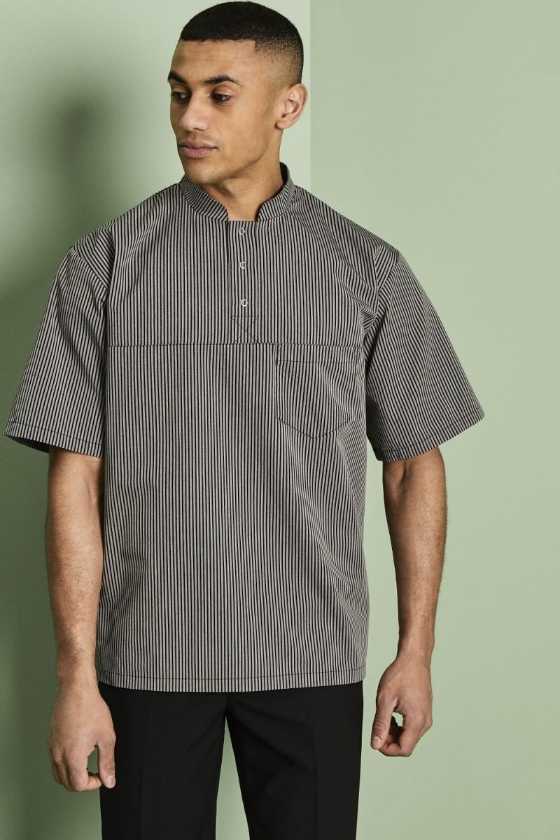 Men's Tunic, Black Stripe