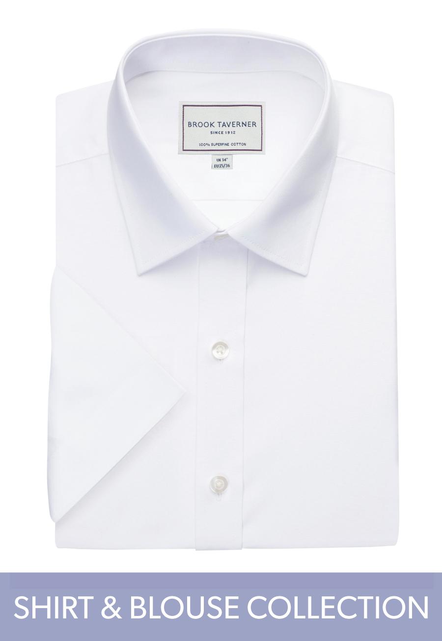 Milano S/S Slim Fit Non-Iron Shirt White