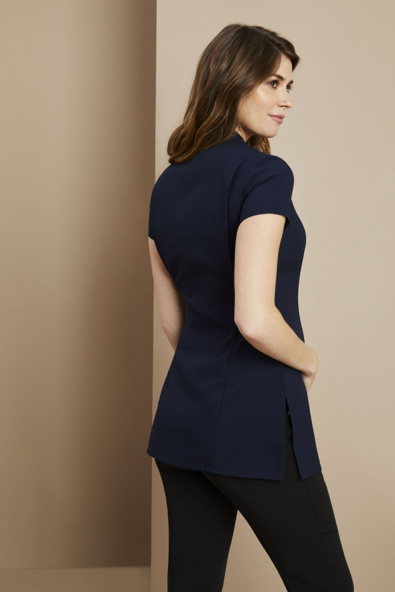 One Button Maternity Tunic, Navy