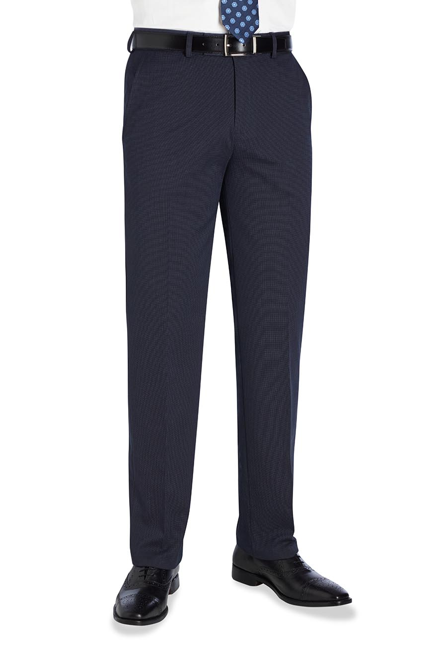 Phoenix Tailored Fit Trouser Navy P/Dot