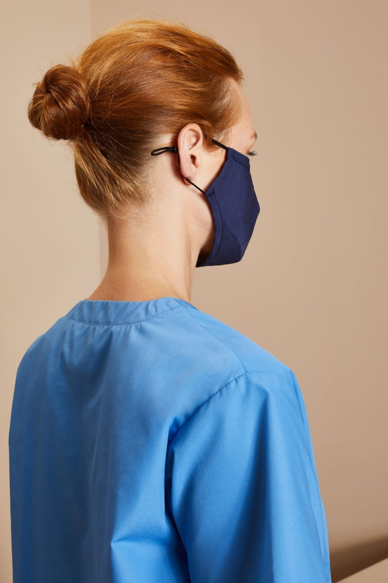 Premier Protective 3-Layer Fabric Mask, Navy