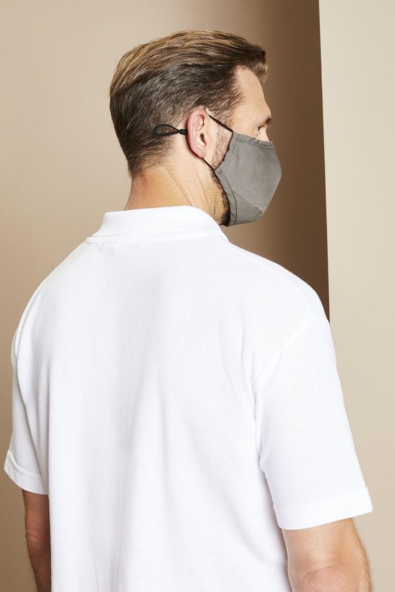 Premier Protective 3-Layer Fabric Mask, Dark Grey