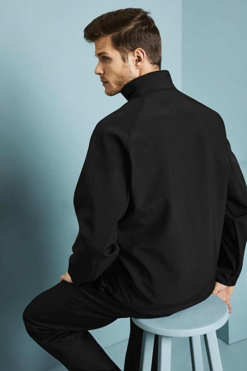 Résultat Veste Softshell imprimable unisexe, noir / noir2