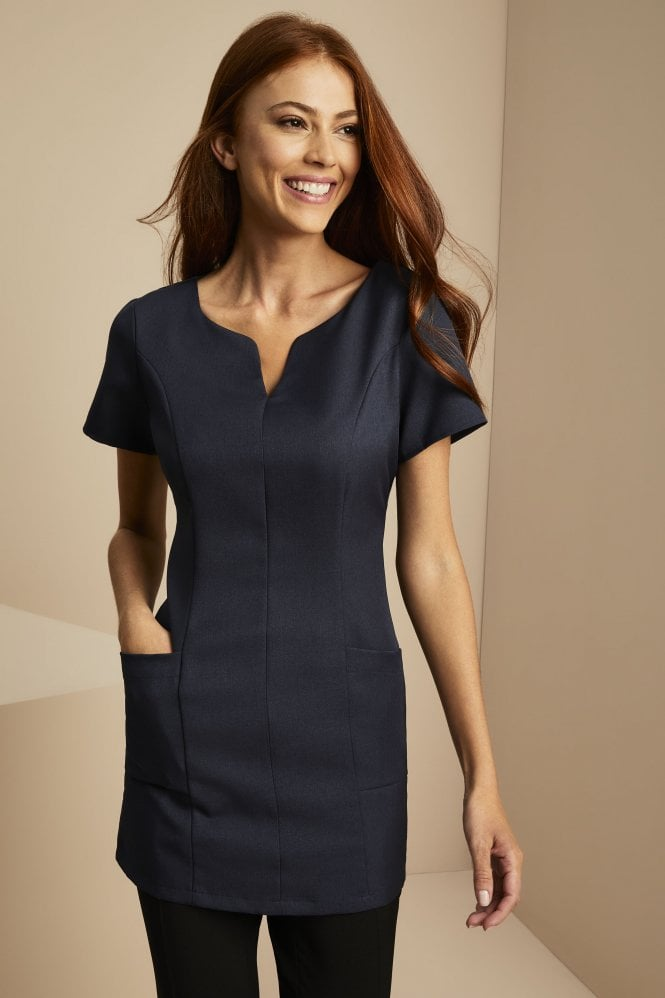 Side pocket tunic navy for Spa uniform canada