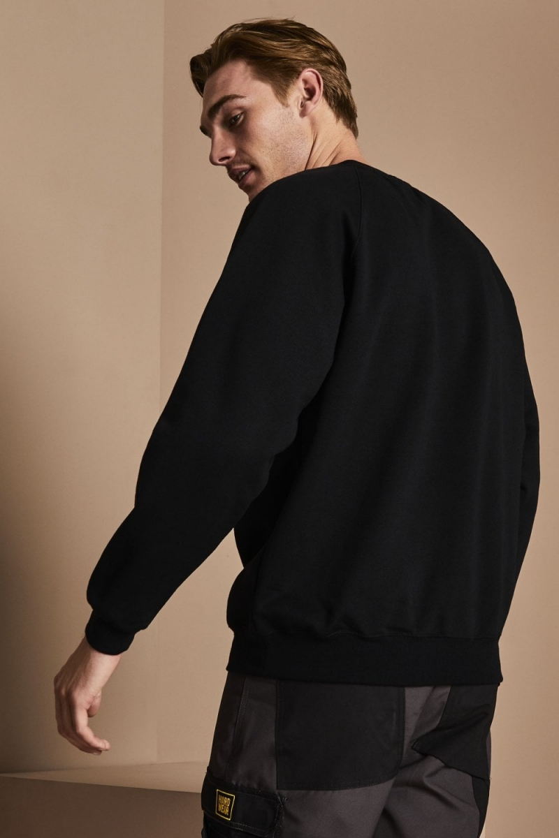 Sweat-shirt unisexe, encolure arrondie, Noir5