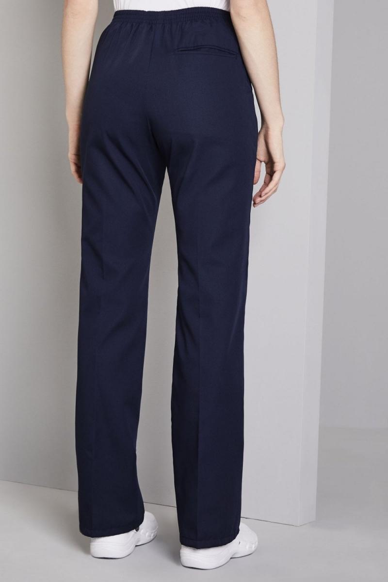 Ladies Bootleg Pants, Navy