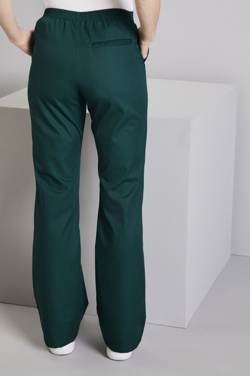 Bootleg Pants, Bottle Green