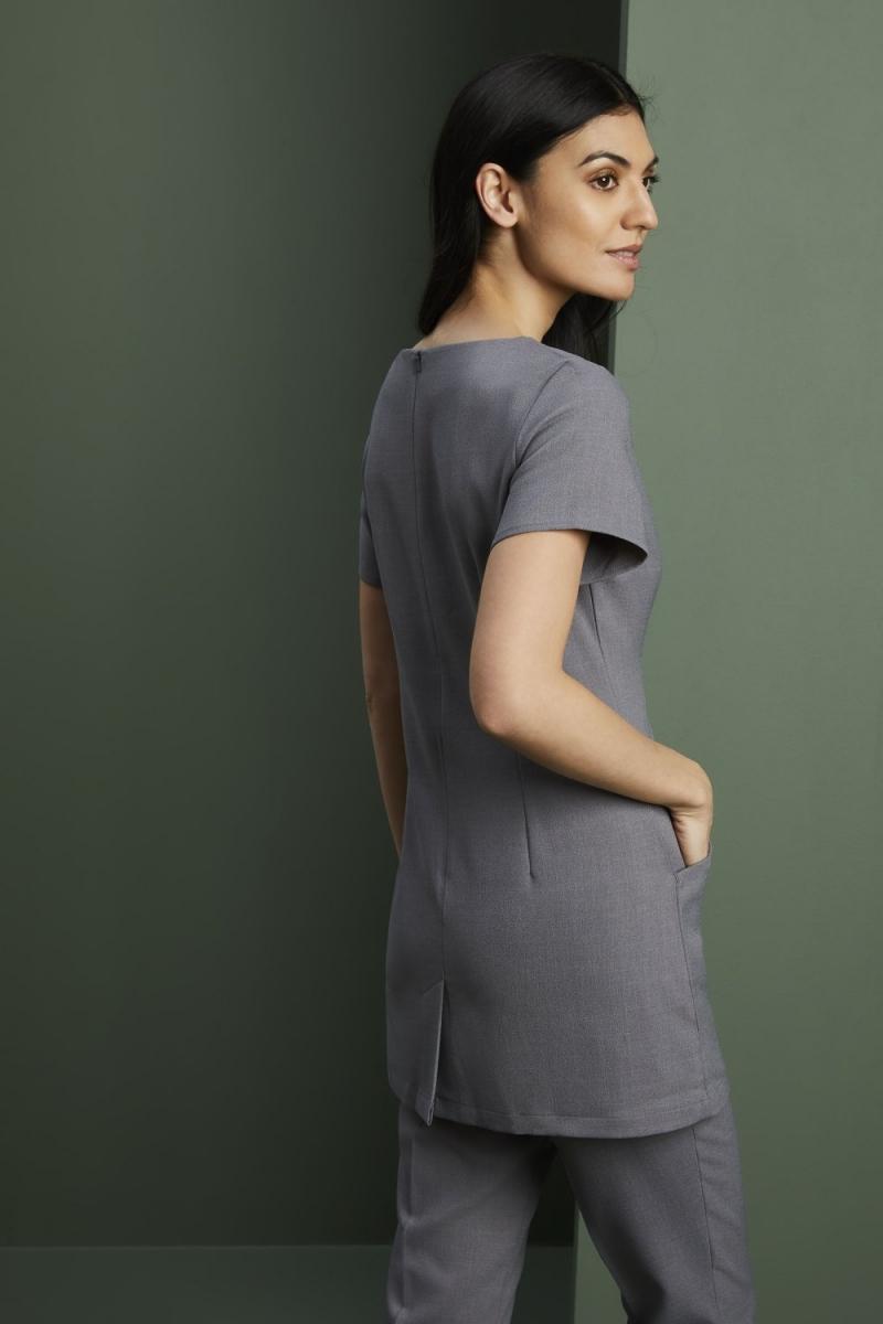 Contour Neckline Beauty Tunic, Grey