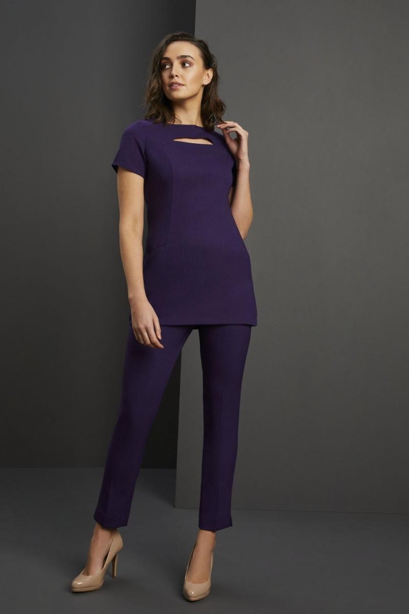 Contour Neckline Beauty Tunic, Violet