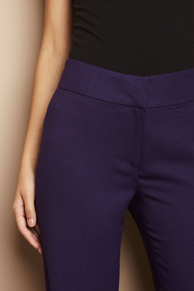 Cropped Pants, Regular, Violet