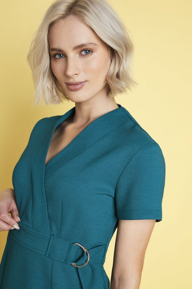 D Ring Tunic, Teal