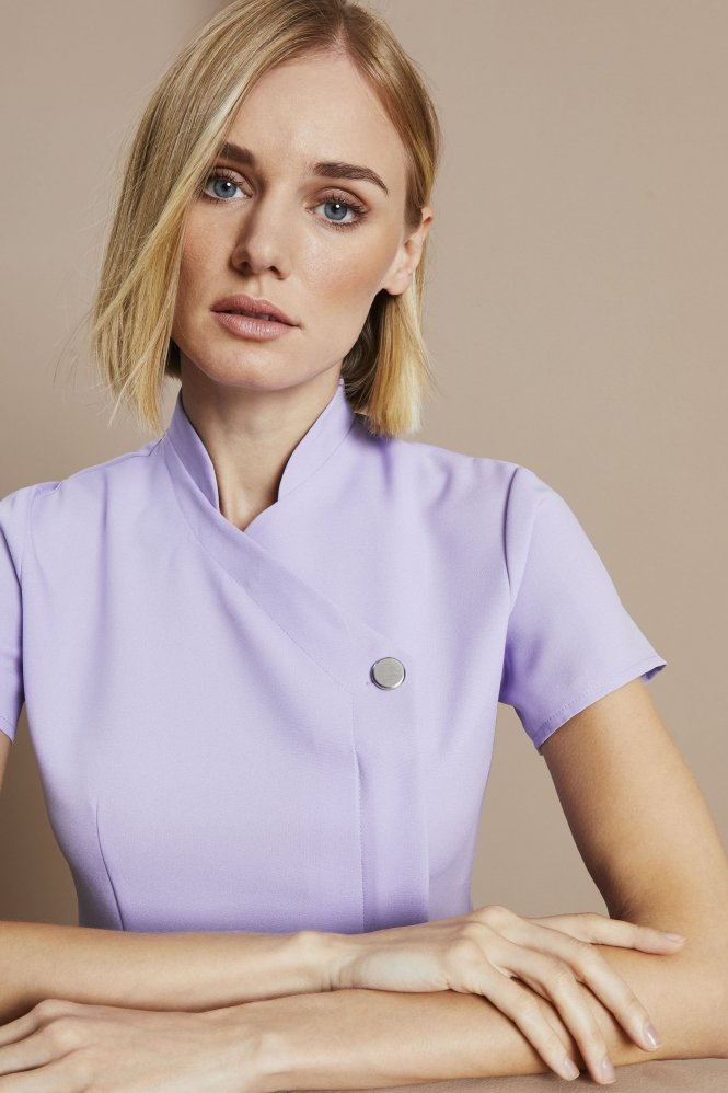 One Button Tunic, Lilac