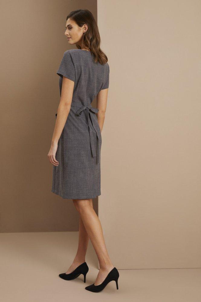 Linen Dress, Charcoal