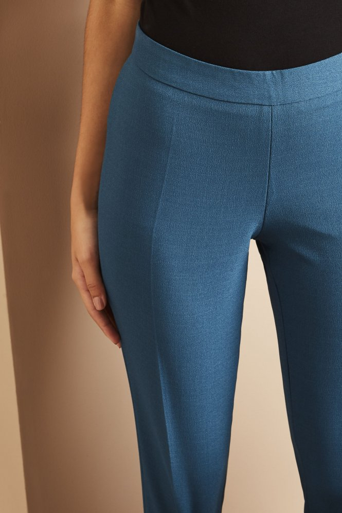 Slim Leg Pants, Short, Teal
