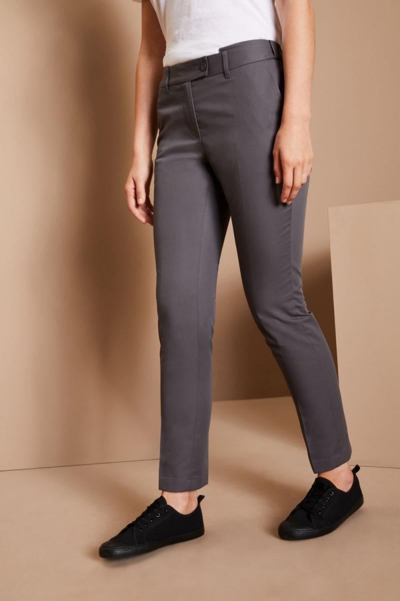 Ladies 65/35 Slim Leg Pants, Grey