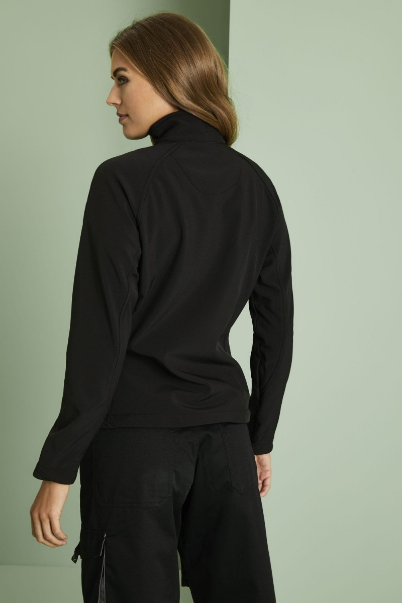 Ladies Soft Shell Jacket, Black