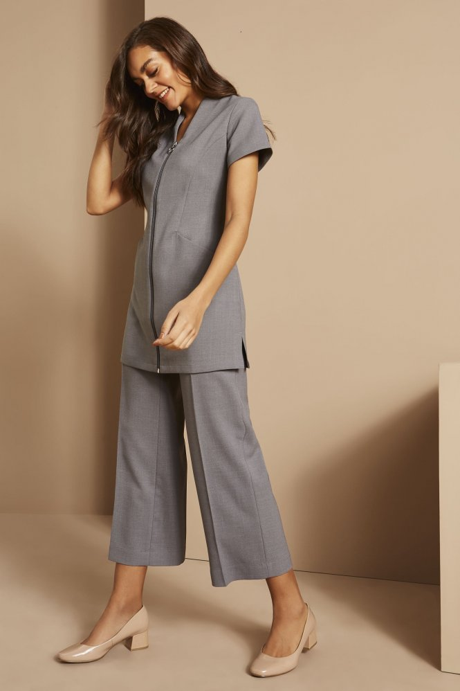 Zip Tunic with Pockets, Oyster