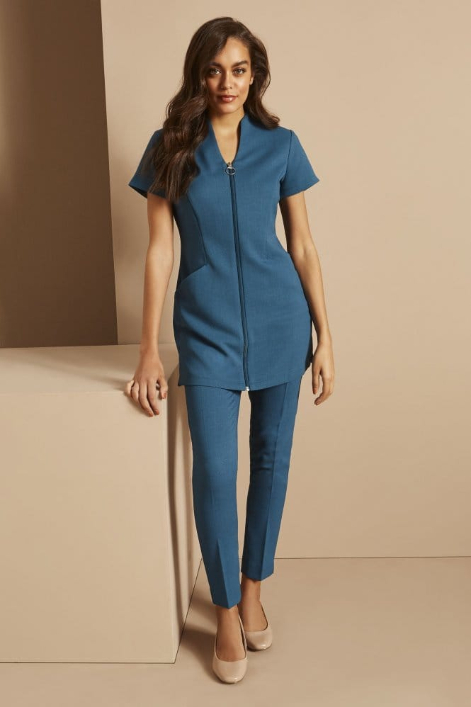 Zip Tunic with Pockets, Teal