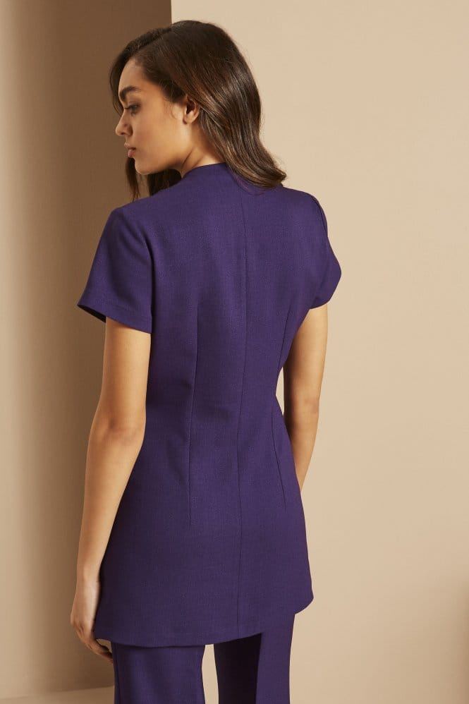 Zip Tunic with Pockets, Violet