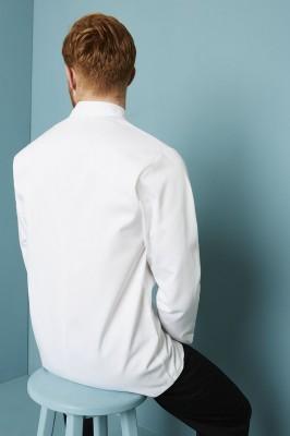 Veste de Chef unisexe, manches longues, Blanc2