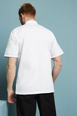 Veste de cuisinier unisexe, manche courte, blanc2