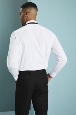 Prestige Men's Wing Collar Shirt, White