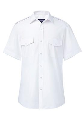 Orion Slim Fit S/S Pilot Shirt White