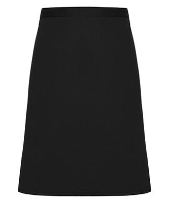 Cotton waist apron organic and Fairtrade certified Black
