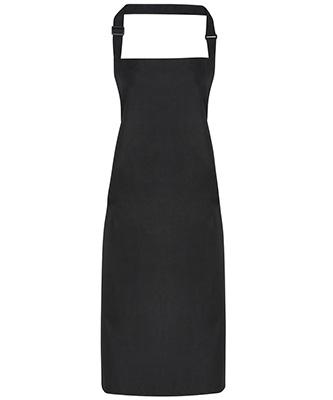 Waterproof bib apron Black