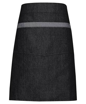Domain contrast denim waist apron Black Denim