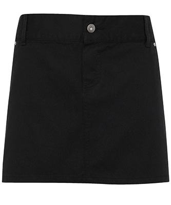 Chino cotton waist apron Black