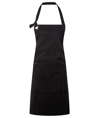 Tablier de poche en toile de coton lourd Calibre Noir