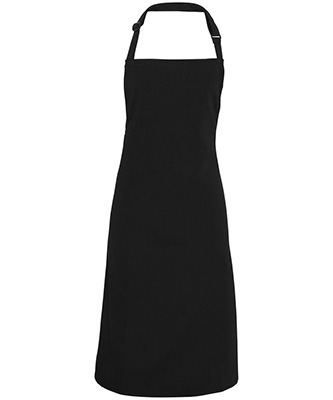 100 Tablier à bavette en polyester Noir
