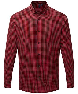 Maxton check long sleeve shirt Black Red