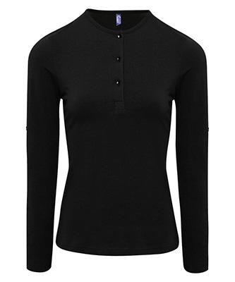 T-shirt à manches longues pour femme Noir