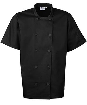 Veste de chef à manches courtes Noir