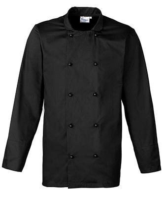 Veste de chef cuisinier à manches longues Noir
