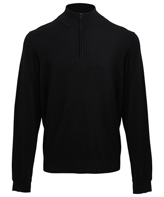 ¼ pull tricoté zippé Noir
