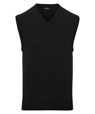 Pull en tricot sans manches Noir