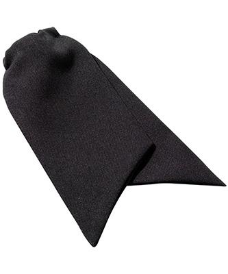 Womens clip-on cravat Black