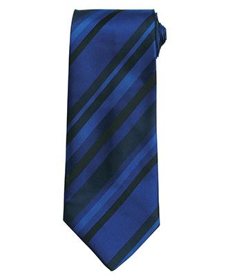 Tie - multi stripe Blue