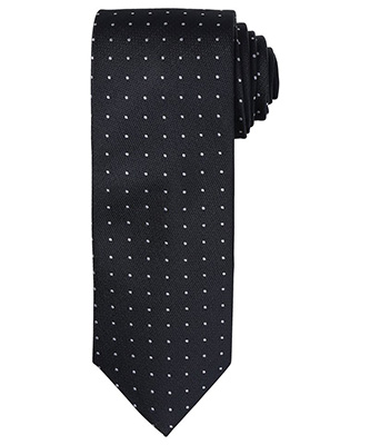 Cravate à micro pois BlackDark Grey