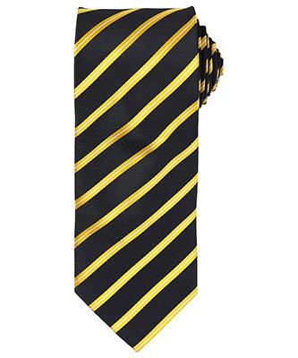 Cravate à rayures sport BlackGold