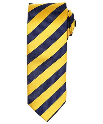 Cravate à rayures Club GoldNavy
