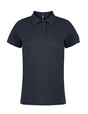 Asquith & Fox Women's Cotton Polo Shirt, Charcoal