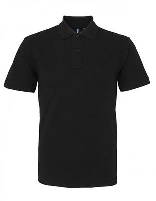 Asquith & Fox Men's Cotton Polo Shirt, Black