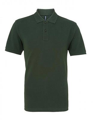 Asquith & Fox Men's Cotton Polo Shirt, Bottle Green