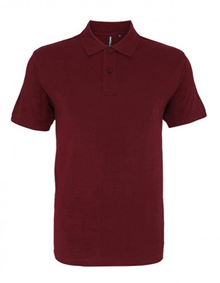 Asquith & Fox Men's Cotton Polo Shirt, Burgundy