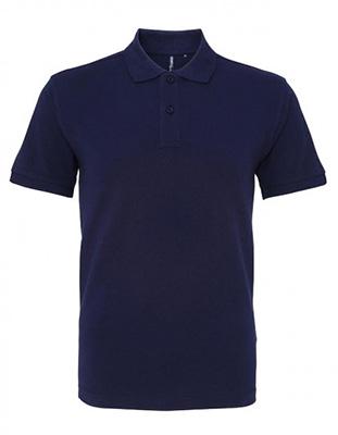 Asquith & Fox Men's Cotton Polo Shirt, Navy